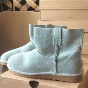 UGG unlined mini perforated booties